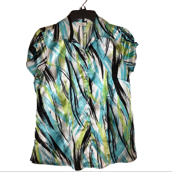 Cato Tops - Cato short sleeve button down blouse